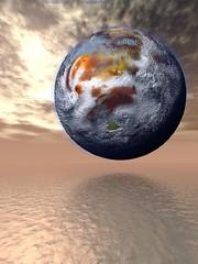 地球上的液态金属海 planeta sobre mar de metal líquido