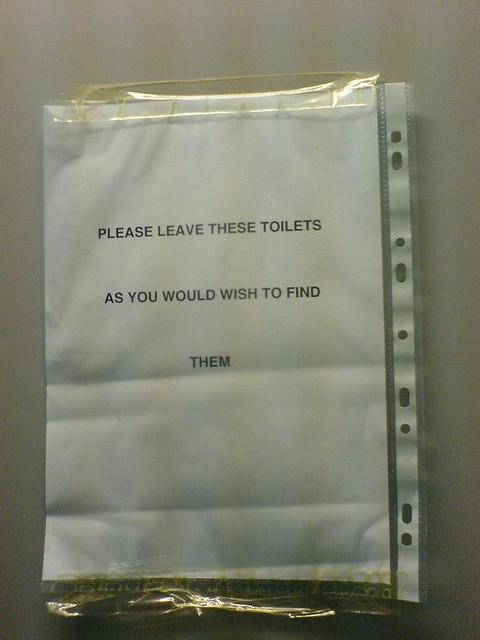 Toilet Door Notice Flickr Photo Sharing