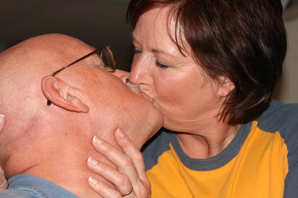 Casey and Sue Kissing