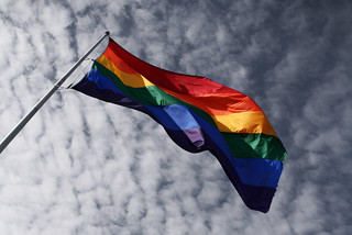 The gigantic gay homosexual flag, Castro