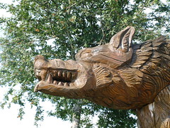 carving, art, chainsaw carving, sculpture, statue,