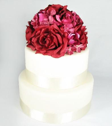 Silk Flower Cake Topper
