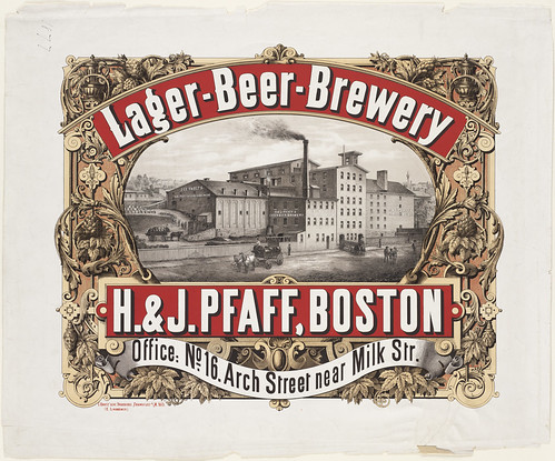 Lager-beer-brewery, H. & J. Pfaff, Boston by Boston Public Library