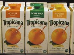 純品康納(Tropicana )生產的柳橙汁,首度採用哥倫比亞大學計算碳足跡的新方法。照片由狄恩(Erin Dean)提供。