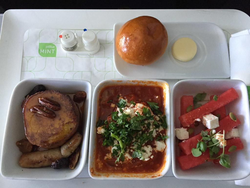 JetBlue Mint Class Main Meal