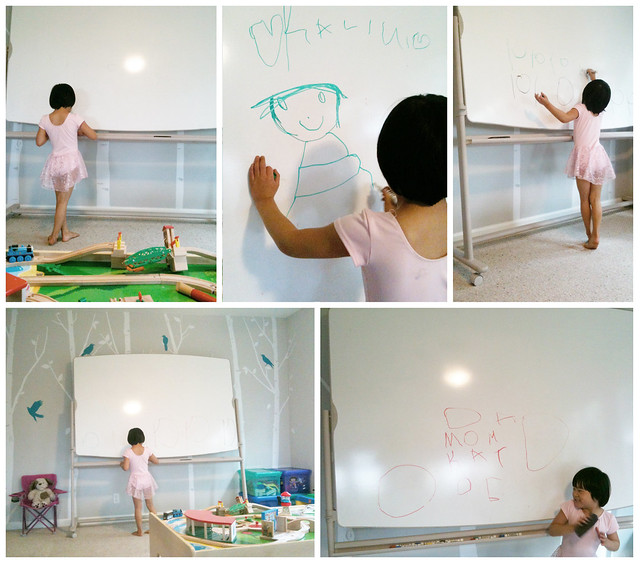 whiteboard in playroom