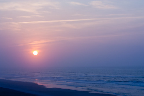 ocean sunset beach water northcarolina topsail