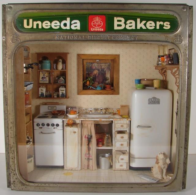 Miniature Kitchen: Miniature Kitchen Scene 1:12 Scale Miniature
