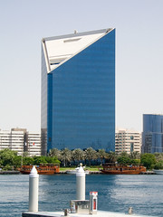 View over a building in Dubai