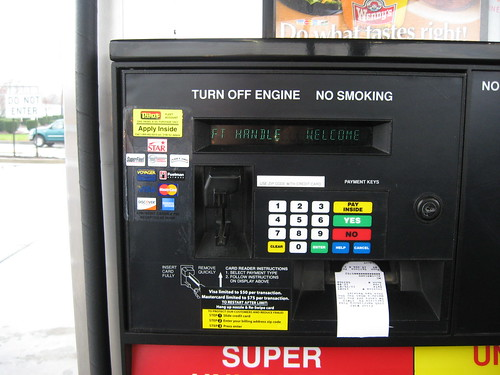 Gas Pump with Zip Code