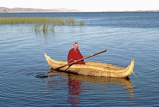 Bolivia-130 - Reed Boat