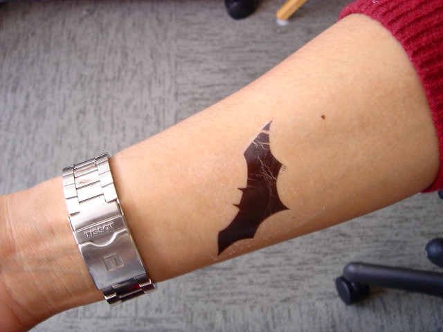 fake batman tattoo