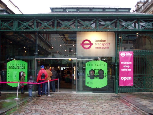 Entrance to the London Transport Museum by Ewan-M on Flickr.  Used through Creative Commons.