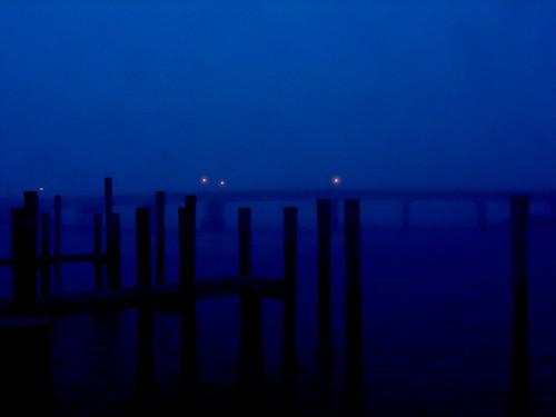 bridge blue seascape night landscape dawn pier pylon april sagharbor 114 superbmasterpiece