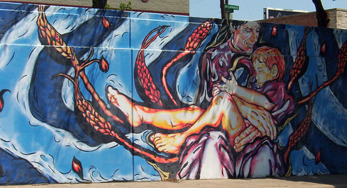 Madonna and Child full mural