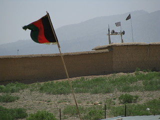 Taliban Flags on the Pakistan side of the border with Afghanistan