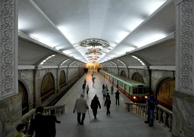 Pyongyang Puhung metro Station North Korea 북한