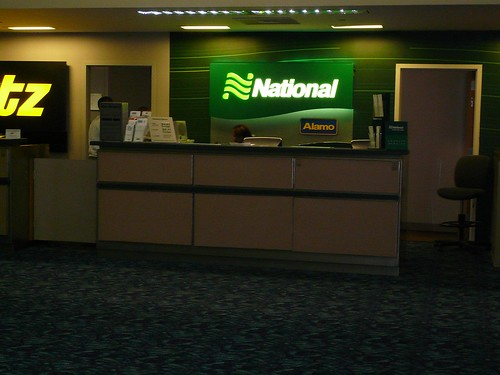 National Rental Car Counter