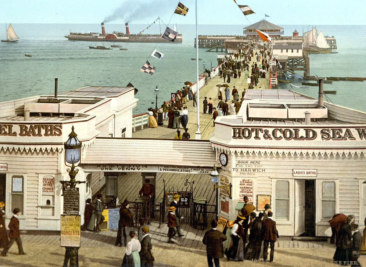 Clacton-on-Sea Pier, England, 1895