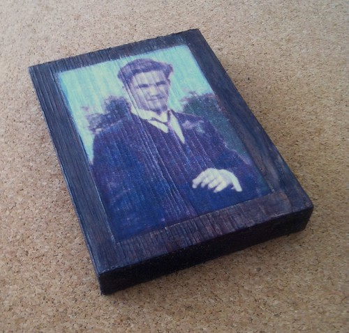 Dad with Boutonniere (Photo Collage on Wood) by randubnick
