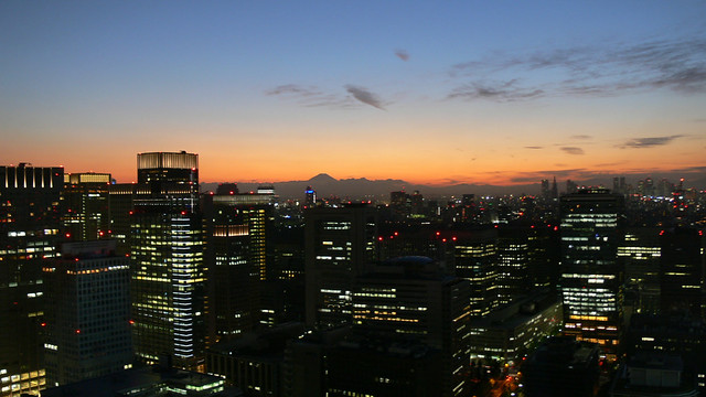 view from the room with Mt. Fuji