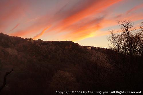 sky usa cloud sun mountain ski sc nature crimson sunrise lumix dawn scenery day earlymorning lodge panasonic dust beechmountain fz8 dmcfz8