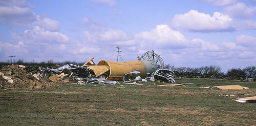 39. Collapse of Emley Moor TV mast - 1969