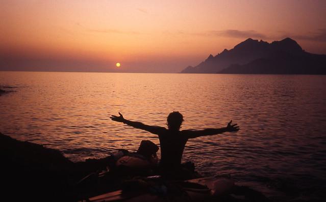 Monte Senino at sunset