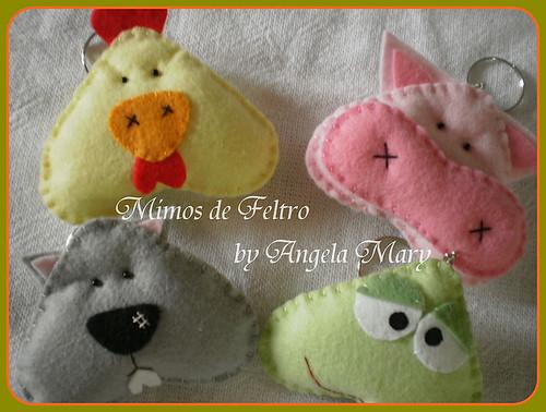 Pintinho.ratinho,sapinho e porquinho bochechudos by ♥ Mimos de Feltro by Angela Mary® ♥