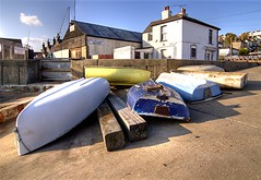 Dinghies on the Strand slipway, Leigh on sea