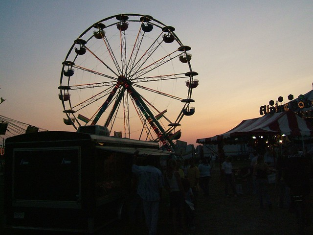 Ferris Wheel Silhouette at sunset | Flickr - Photo Sharing!