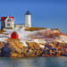 Nubble Light In Snow