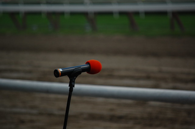 empty microphone