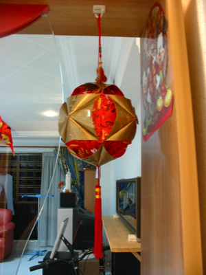 some ang pow red packet decorations for chinese new year