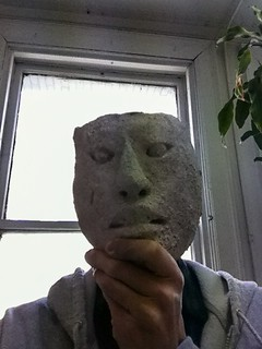 Ancient Mayan Stucco Mask