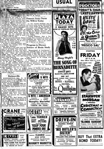 Movie ads  8-15-1945