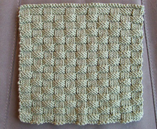 Free Knit Basket Weave Patterns Basket Weave Dishcloth Pattern Just