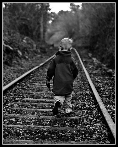 Rail Walk B&W