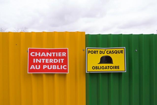 Chantier interdit au public port du casque obligatoire flickr photo sharing - Port du casque obligatoire ...
