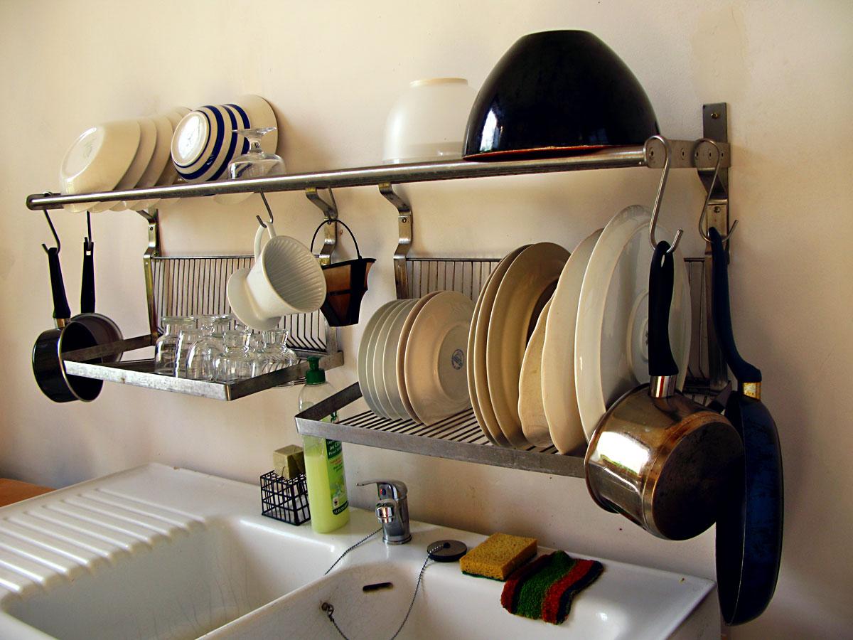 Ikea Metal Shelf And Fold Away Dish Dryer Storage Rack A