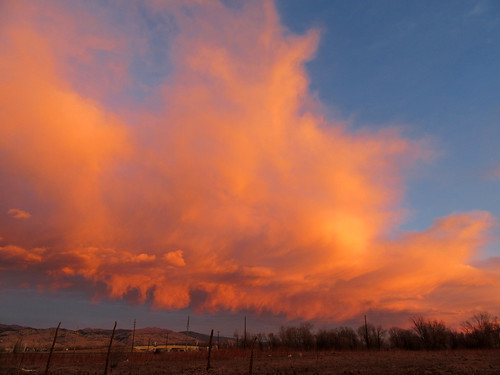 colorado boulder clouds morning sunrise orange landscape foothills