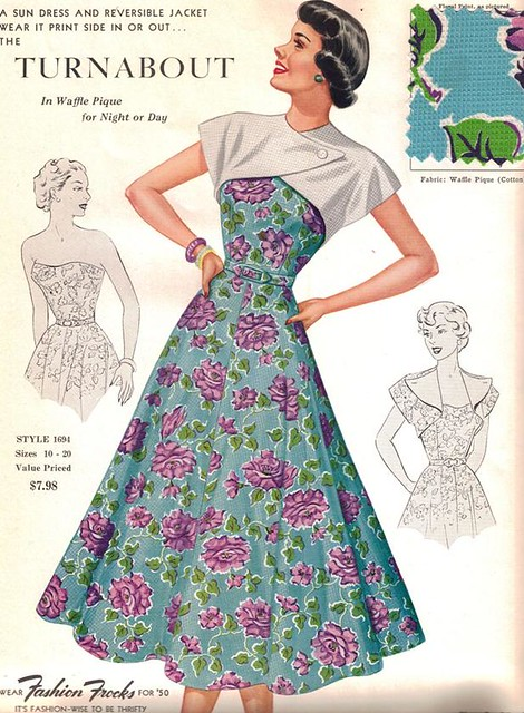 "Fashion Frocks ""The Turnabout"" 1950"