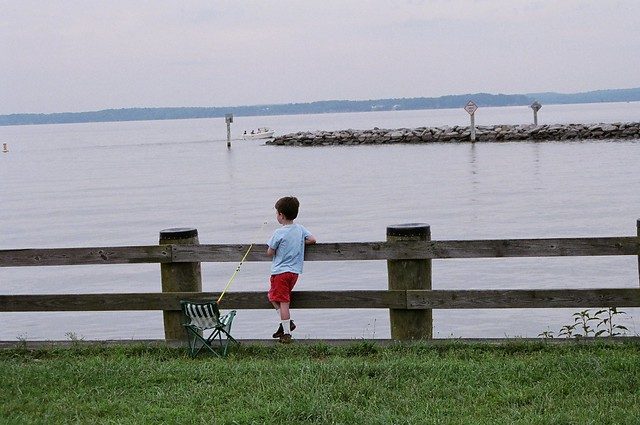 Fishing is a popular past time at Leesylvania State Park