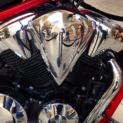 Chrome is cool. On a motorcycle engine it's even cooler.