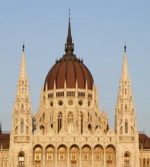 La coupole du Parlement (Budapest)