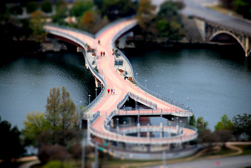 Tilt shift Pfluger Bridge