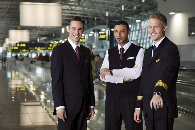 Brussels Airlines - male aircrew