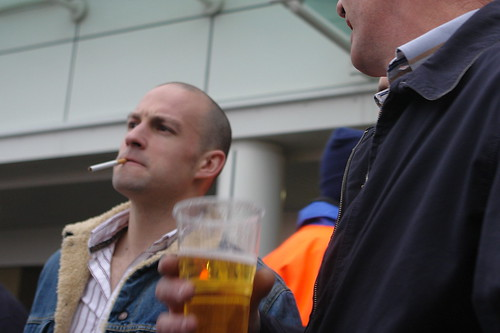 Cheltenham racing folk - beer and cigarettes by CharlesFred