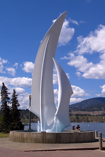 The Sails in Kerry Park, Kelowna, BC, Canada
