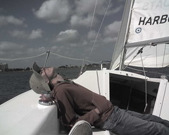 Steve out on a Catalina 22